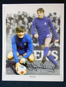 Bobby Tambling Signed Chelsea Large Photograph