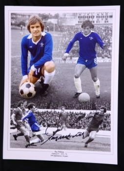 Ray Wilkins Chelsea Signed 12x16 Football Montage