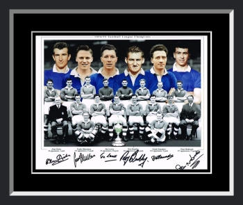 New Chelsea 1955 Team Signed And Framed Football Photograph