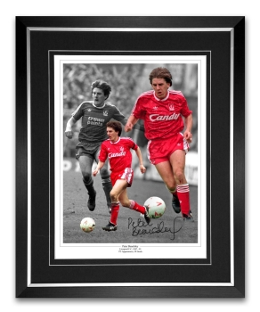 Peter Beardsley Liverpool Signed And Framed Football Montage