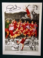 Phil Neal Signed Liverpool Large Photograph