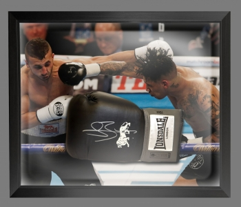 Connor Benn Signed Black Lonsdale  Boxing Glove Presented In A Dome Frame : B