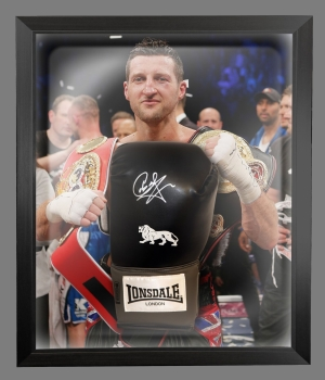 Carl Froch Signed Black Boxing Glove In A Dome Frame Presentation: A