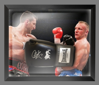 Carl Froch Signed Black Lonsdale Boxing Glove In A Dome Frame