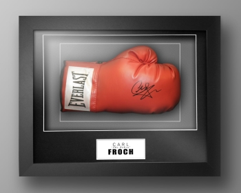 Carl Froch Signed Everlast Boxing Glove In Our Elegance Box Frame
