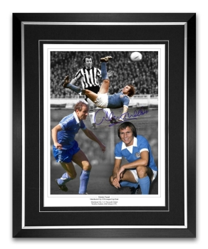 Denis Tueart Signed And Framed Manchester City Football Montage