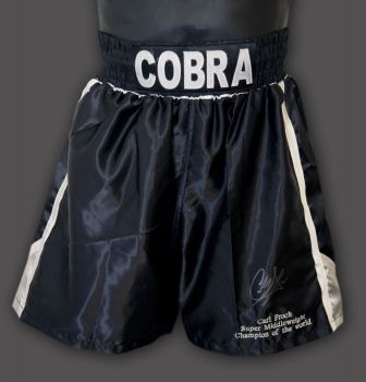 Carl Froch Hand Signed Custom Made Boxing Trunks
