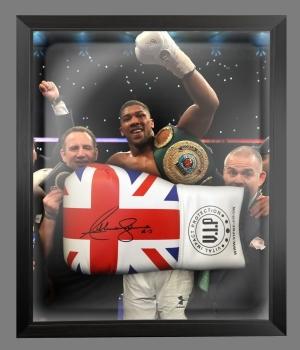 Anthony Joshua Vs klitschko Signed Union Jack Boxing Glove In A Dome : AJ - C