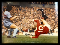 Denis Law Signed Manchester United 12x16 Football Photograph : B