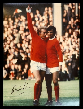 Denis Law Signed Manchester United 12x16 Football Photograph : A
