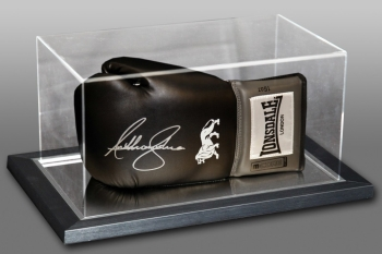 *New* Anthony Joshua Signed Black Boxing Glove In An Acrylic Case : B