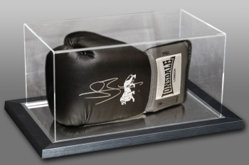 Connor Benn Signed Black Boxing Glove In An Acrylic Case