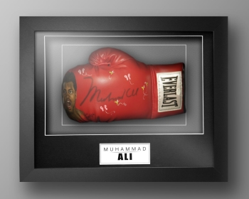 Muhammad Ali Signed Painted Boxing Glove In A Box Frame: Online Authentics : E