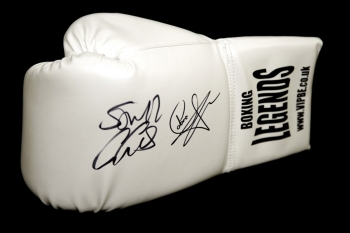 Carl Froch And George Groves Dual Signed White VIP Boxing Legends Glove