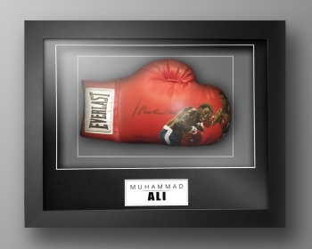 Muhammad Ali Signed Painted Boxing Glove In A Box Frame: Online Authentics : B
