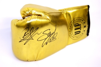 Carl Froch And George Groves Dual Signed Gold VIP Boxing Glove