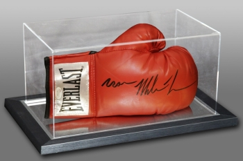 Iron Mike Tyson Signed Boxing Glove In An Acrylic Case JSA