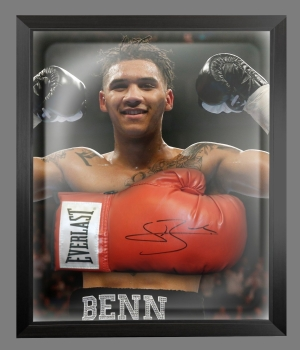 Connor Benn Signed Red Everlast Boxing Glove In A Dome Frame