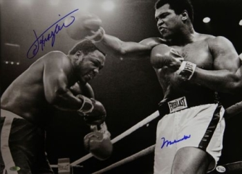 Muhammad Ali And Joe Frazier Dual Signed 20x16 Photo, Online Authentics: 2