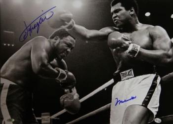 Muhammad Ali And Joe Frazier Dual Signed 20x16 Photo, Online Authentics: 2