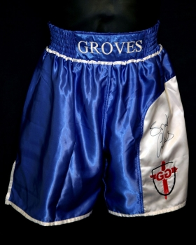 George Groves Signed Custom Made Boxing Trunks