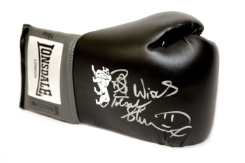 Frank Bruno Hand Signed Black Boxing Glove - Best Wishes