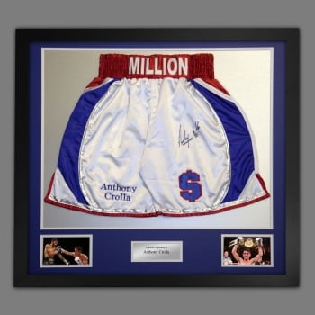 Anthony Crolla Hand Signed And Framed Custom Made Boxing Trunks.