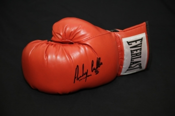 Anthony Crolla Hand Signed Red Everlast Boxing Glove