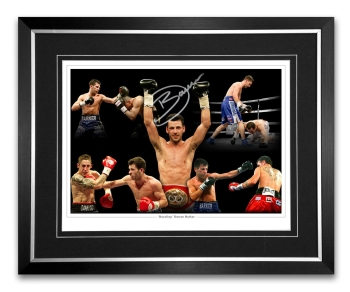 Darren Barker Signed And Framed Boxing Montage