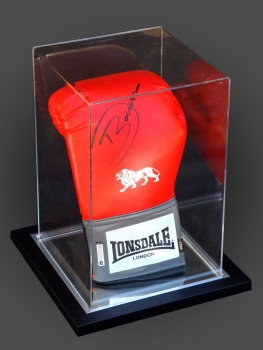 Darren Barker Signed Portrait  Lonsdale Boxing Glove In An Acrylic Case: D