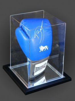 Darren Barker Signed Portrait  Lonsdale Boxing Glove In An Acrylic Case: C