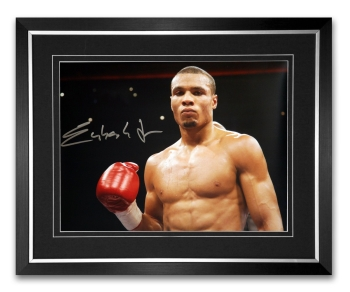 *New* Chris Eubank Jr Signed And Framed Boxing Photograph : B