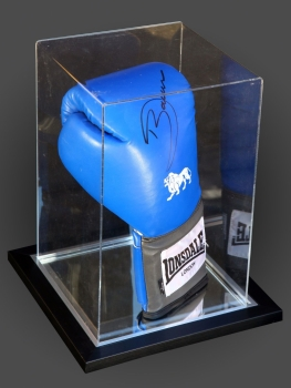 Darren Barker Signed Portrait  Lonsdale Boxing Glove In An Acrylic Case: B