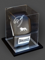 Darren Barker Signed Portrait  Lonsdale Boxing Glove In An Acrylic Case :A
