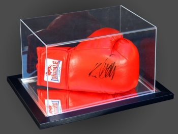 Kevin Mitchell Signed Red Boxing Glove Presented  In An Acrylic Case