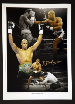 Daniel Dubois Hand Signed 12x16 Boxing Montage
