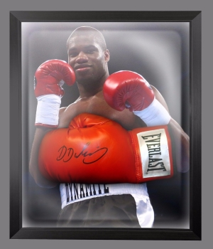 Daniel Dubois  Hand Signed Red Everlast Boxing Glove In A Dome Frame - C