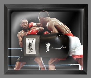 *New* Chris Eubank Signed Black Boxing Glove In A Dome Frame