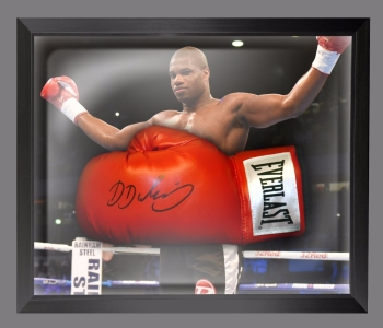 Daniel Dubois  Hand Signed Red Everlast Boxing Glove In A Dome Frame - B
