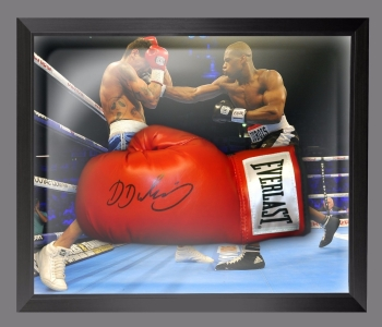 Daniel Dubois  Hand Signed Red Everlast Boxing Glove In A Dome Frame - A