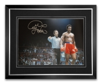 George Foreman Signed And Framed Large Boxing Photograph