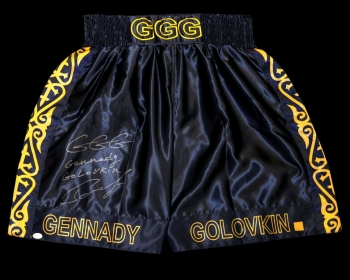 *New* Gennady Golovkin Signed Custom Made Boxing Trunks : Online Authentics  : A