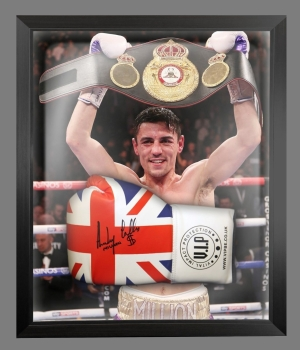 Anthony Crolla Signed Union Jack VIP Boxing Glove In A Dome Frame: B