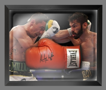 Anthony Crolla Signed Red Everlast Boxing Glove In A Dome Frame: B