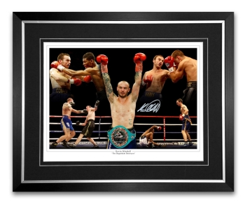 Kevin Mitchell  Signed And Framed Boxing Montage