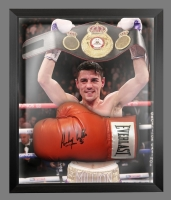 Anthony Crolla Signed Red Everlast Boxing Glove In A Dome Frame
