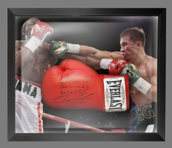Rare Gennady Golovkin Signed Boxing Glove In A Dome Frame: Online Authentics : A
