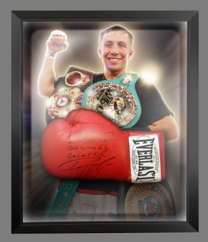 Rare Gennady Golovkin Signed Boxing Glove In A Dome Frame: Online Authentics : B