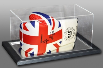 Anthony Crolla Signed Union Jack VIP Boxing Glove In An Acrylic Case