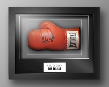 Anthony Crolla Signed Red Everlast Boxing Glove In Our Elegance Box Frame